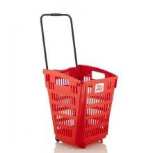 Cesta de la Compra Color Roja de 52 Litros ARAVEN 2111 (1 ud)