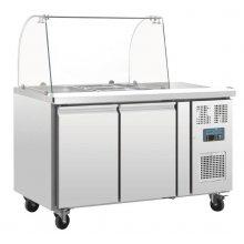 Mostrador frigorífico preparación GN 2 puertas con pantalla. CT393 POLAR
