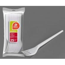 Bolsa de 25 Tenedores Grandes color Blanco de 16,50 Cm 246000 (1 ud)