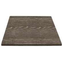 Tablero de mesa cuadrado 600 x 600 mm wengé veteado HC294 BOLERO