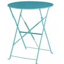 Mesa bistro redonda para terraza acero azul GK983 BOLERO