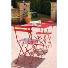 Mesa bistro cuadrada para terraza acero roja GK986 Bolero