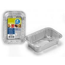 Bolsa de 5 Bandejas Rectangulares de Aluminio de 15,50x10x3,50cm 350500 (1 ud)