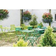 Sillas bistro para terraza acero verdes lima GH552 Bolero (Lote 2 uds)