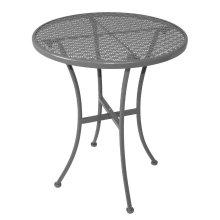 Mesa bistro redonda para terraza 60cm acero gris GG703 Bolero