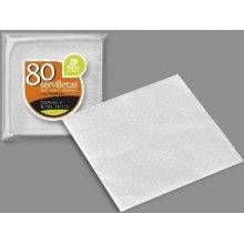 Paquete de 80 Servilletas Color Blanco de 1 Capa de 30x30cm 10094 BEST PRODUCT (1 ud)