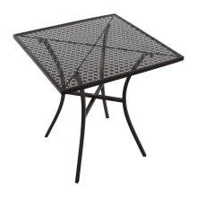Mesa bistro cuadrada para terraza 70cm acero negra GG706 Bolero