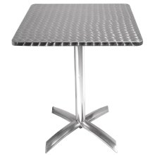 Mesa cuadrada abatible 60cm acero inoxidable CG838 Bolero