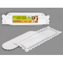 Bolsa de 2 Bandejas Alargadas Con Blonda de Color Blanca de 10 X 36 Cm 356000 (1 ud)