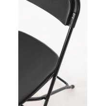 Silla plegable Negra GD386 BOLERO (Juego de 10)