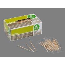Caja de 1000 Palillos de Madera Redondos Enfundados En Plastico 360700 (1 ud)