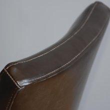 Silla de comedor símil cuero sólido marrón oscuro GF957 Bolero (Juego de 2)