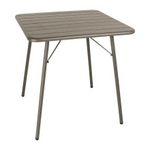 Mesa de acero lamas 700 x 700mm color café CS732 Bolero