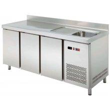 Mesa Snack Refrigerada con Fregadero Fondo 600 2 puertas MRCH-150F