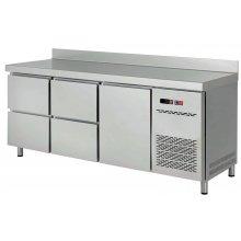 Mesa Snack Refrigerada con Cajones Fondo 600 MRCH-200-4