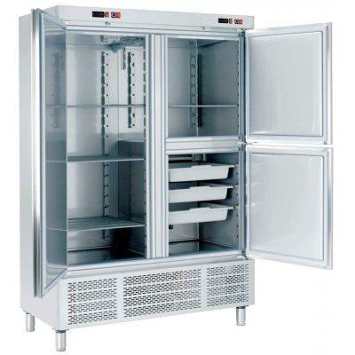 Armario Snack Refrigerado con Departamento de Congelados 2 medias puertas ARCH-1203-DC