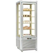 Armario Congelación Especial Pastelería 4 caras de cristal 400 litros con 4 estantes fijos EUROFRED PRISMA400BT