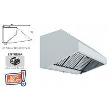 Campana Extracción Mural Hostelería en Acero Inoxidable SIN TURBINA de 1000x800x700h mm 10080CM