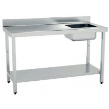Mesa de Trabajo Acero Inoxidable CON Cubeta CON Estante de 2000 x700 x850h mm MCIC720