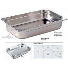 Cubetas Gastronorm Acero Inoxidable de GN1/2-40mm GNCH16