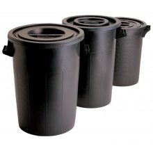 Cubo de Basura de 50 litros Sin Tapa de 40x50cm 4049 FERVIK (1 ud)
