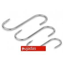 Pack de 10 Ganchos de Acero Inoxidable de 14 cm 958014 PUJADAS (1 pack)
