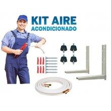 Kit Accesorios de Montaje Aire acondicionado con tubería 3 m de 1/4-1/2