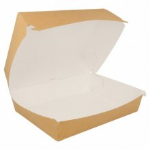 Pack de 50 Cajas Fast food de de 22'5x18x9cm Lunch box Marrón 220.06 Garcia de Pou (Pack 50 uds)
