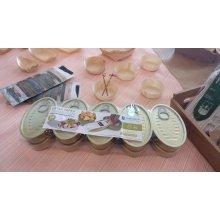 Pack de 10 Latas para Tapeo Oval de 11x7cm hojalata dorada 2809 SUPREMNOX (1 pack)