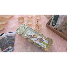 Pack de 10 Latas para Tapeo de 11x6'5cm Rectangular en hojalata dorada 2814 SUPREMNOX (1 Pack)