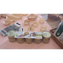 Pack de 10 Latas para Tapeo de 7'7cm Redonda en hojalata dorada 2811 SUPREMNOX (1 Pack)