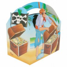 "Pack 50 Cajas Menu Infantil ""PIRATAS"" de 17x16x10cm cartoncillo 137.34 GDP (1 Pack)"