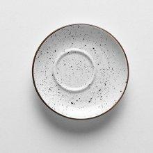 Plato capuccino DOTS Blanco de 14 cm PV611100 PORVASAL (Caja 12 uds)
