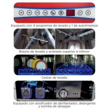 Lavavajillas Industrial con Cesta de 50x50 con Control Electrónico Digital Táctil CH500B-D