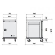 Carro caliente 10 bandejas GN2/1 THERMIK HTB-10 EDENOX