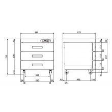 Carro caliente 3 bandejas GN1/1-65 CCB-6-3C EDENOX