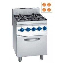 Cocina a gas 4 fuegos con horno eléctrico Snack 650 SCGHE-60 E EDENOX