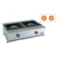 Cocina a gas 2 fuegos 4,1+6,5Kw Snack 550 TCG-85 EDENOX