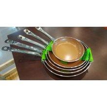 Sartén Cerámica cobre 3mm con inducción Mango inox nº26cm BI1706076 VIEIRA (1 ud)