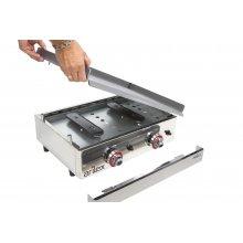 Plancha a gas Profesional en acero laminado de 6 mm con medidas 1010x457x240h mm 100PGL