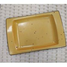Rabanera Rectangular DOTS SOL de 18x12cm PV182790 Porvasal (Caja 12 uds)