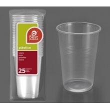 Caja de 40 paquetes de 25 Vasos de Litrona de Plástico Transparente Irrompible 249600C (1 caja) (OUTLET)