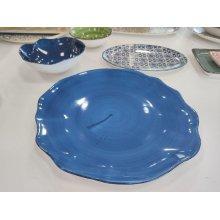 Plato Llano de 33cm Stone Azul Cobalto 4658-6590/17 Lubiana (caja 6 uds)