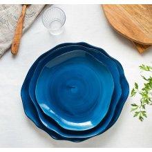 Plato Llano de 28cm Stone Azul Cobalto 4638-6590/17 Lubiana (caja 6 uds)