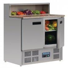 Mostrador de preparación de Pizzas de 2 puertas con superficie de granito 288 Litros G603 POLAR