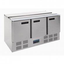 Mostrador Refrigerado para ensaladas de 3 puertas en Acero Inoxidable de 368 Litros G607 POLAR