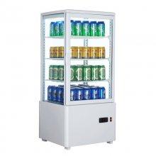 Armario Expositor Refrigerado 4 caras Sobremostrador Blanco 78 L XC78L-B