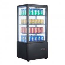 Armario Expositor Refrigerado 4 caras Sobremostrador Negro 78 L XC78L-N