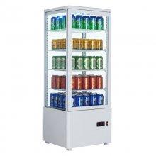 Expositor Refrigerado 4 caras cristal Sobremesa Blanco de 98 litros XC98L-B