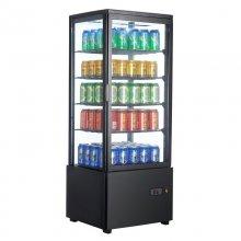 Expositor Refrigerado 4 caras cristal Sobremesa Negro de 98 litros XC98L-N
